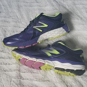 Mens New Balance running shoes 10.5 purple green